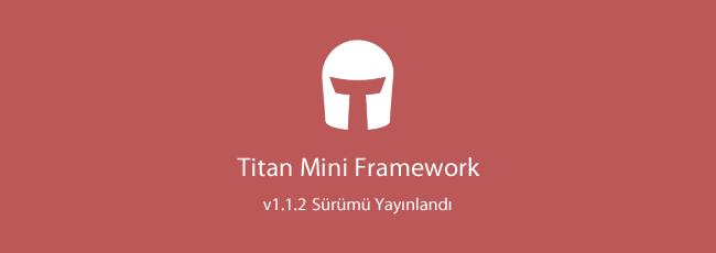 Titan Mini Framework - v1.1.2 Güncellemesi