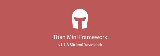 Titan Mini Framework - v1.1.3 Güncellemesi