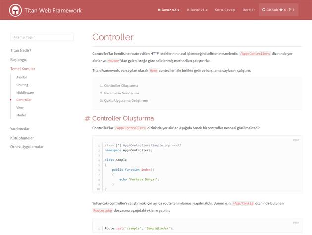 Titan 2 Web Framework - Dökümantasyon