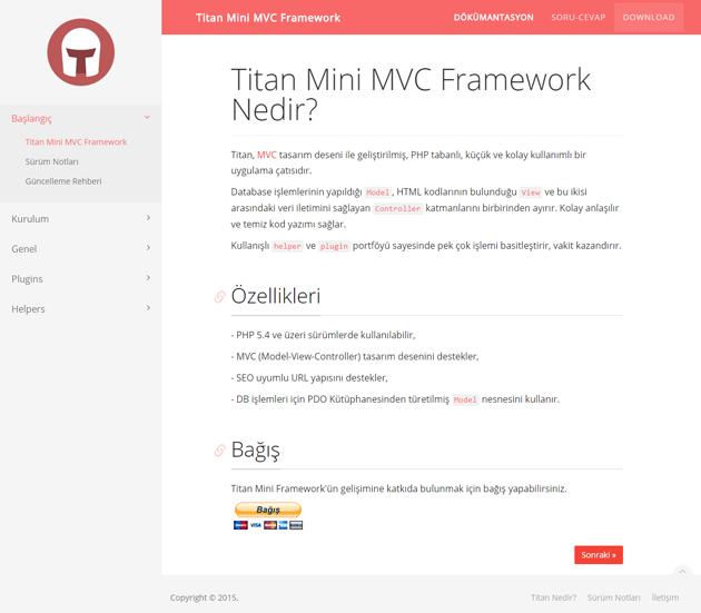 Titan Mini Framework - Dökümantasyon