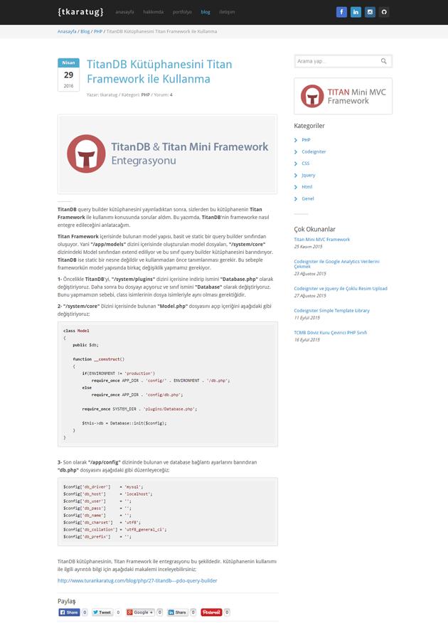 Kişisel Web Sayfam